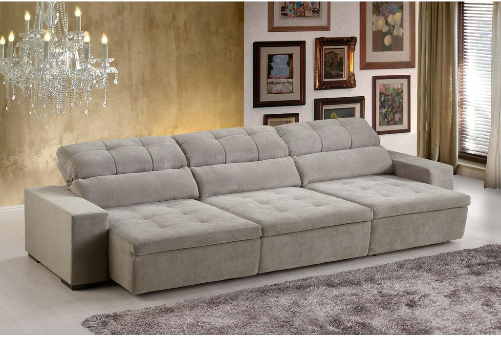 sofa retratil. sof 5 lugares retrtil e reclinvel london sofa retratil h