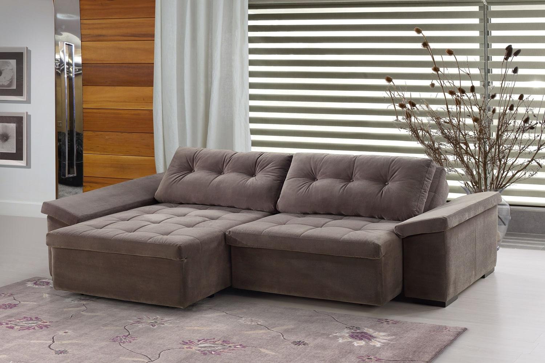 Sof cama 4 lugares retr til e reclin vel sofisticatto for Sofa 4 lugares retratil e reclinavel