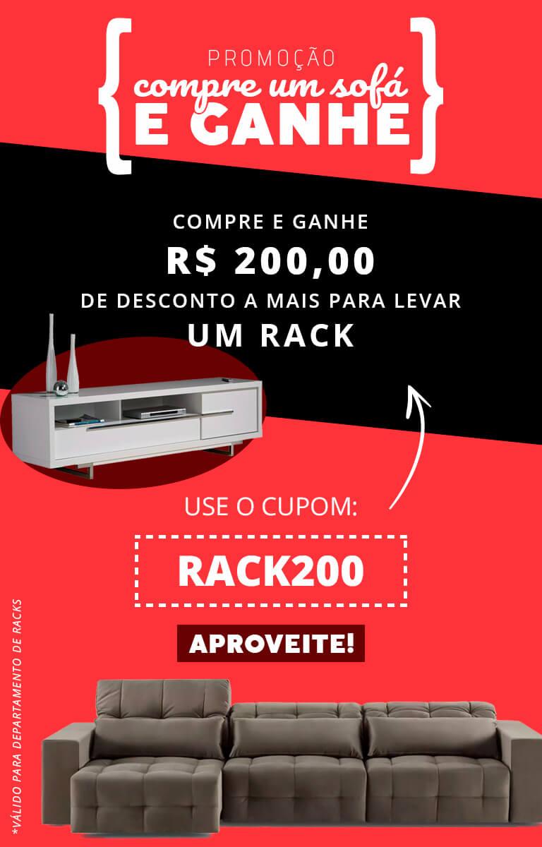 Sofá e rack 200 off - abr/18