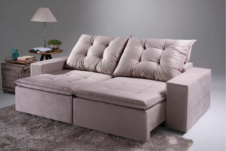 Image of: Sofa 5 Lugares Retratil E Reclinavel Paris Casadecasa